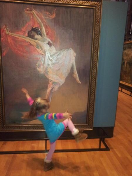 The Little Girl is Moved By Art