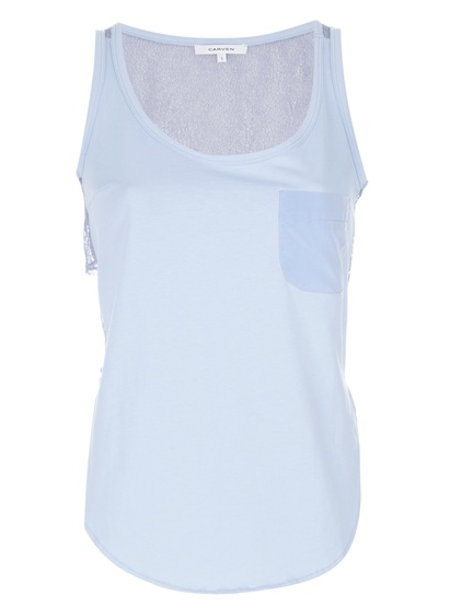 CARVEN mesh back tank top available at farfetch.com