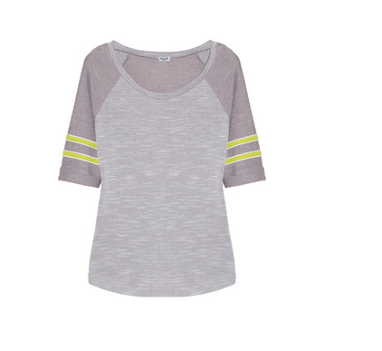Splendid Contrast-sleeved terry sweatshirt available at net-a-porter.com