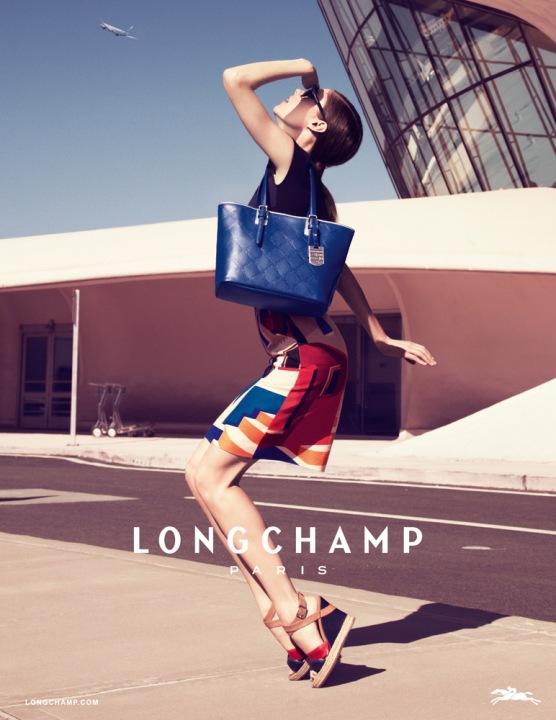 Coco Rocha for Longchamp Spring 2013 Ad Campaign